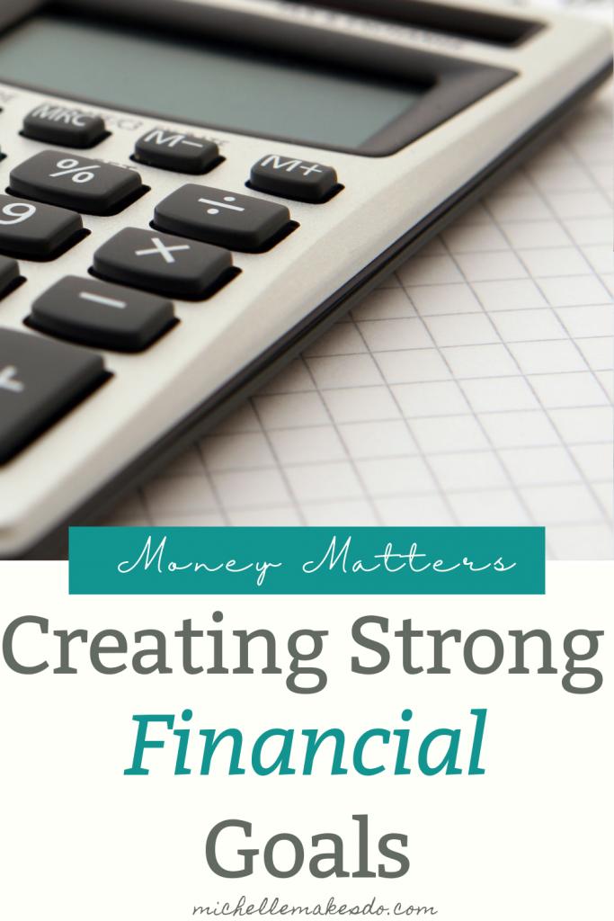 Strong Financial Goals